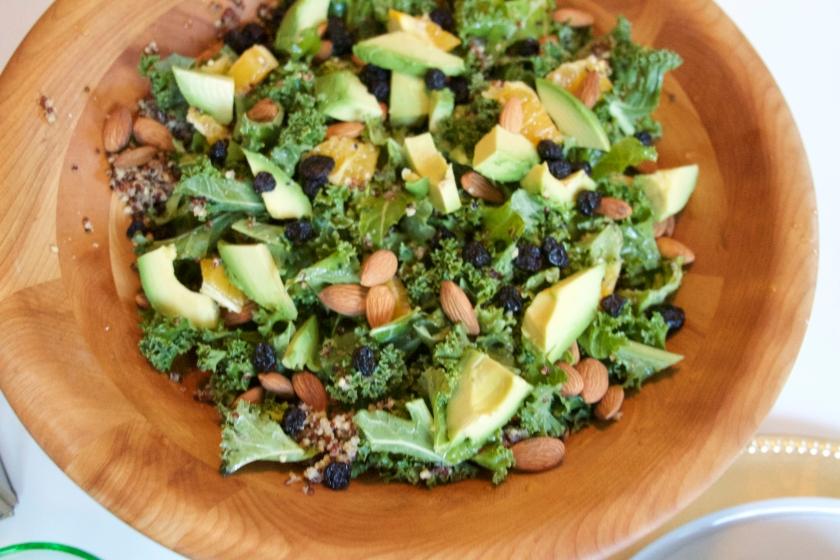 Citrus Kale & Blueberry Salad